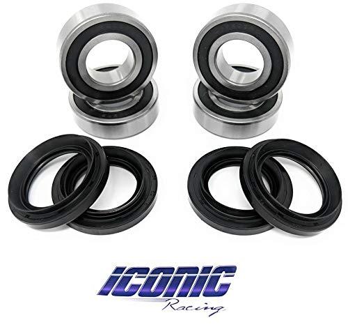 Iconic Racing Both Rear Wheel Bearings and Seals Kits Compatible with 2005-2013 Yamaha Rhino 450 660 700 by Iconic Racing