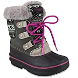 LONDON FOG Girls Tottenham Cold Weather Snow Boot GY/PK Size 13 Grey/Pink