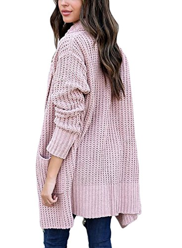 HOTAPEI-Womens-Winter-Casual-Open-Front-Cable-Knit-Long-Cardigan-Sweaters-with-Pocket