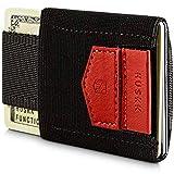 HUSKK Minimalist Slim Wallet - 10 Card Holders - Cash & Keys (Red)