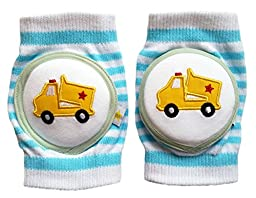 Crawlings Boy\'s Dump Truck Knee Pads One Size Pool Blue