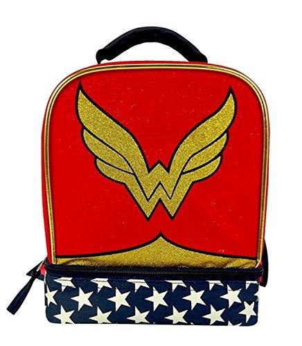 DC Super Hero Girls Wonder Woman Lunch Box - Bonus Detachable (Wonder Superhero Accessory Kit)