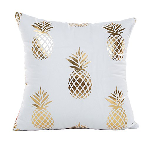Gold Pineapple Throw Pillow Case Cushion Cover 18