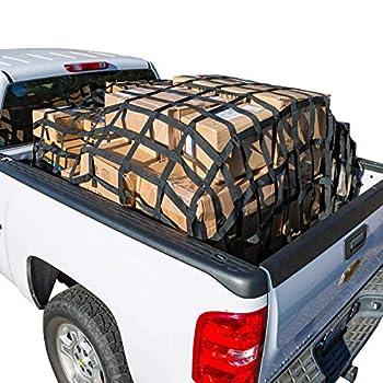 Image of RAKAPAK Rugged Truck Bed Cargo Net with Additional Elastic Net Included, 8 feet x 6.75 feet Cargo Nets