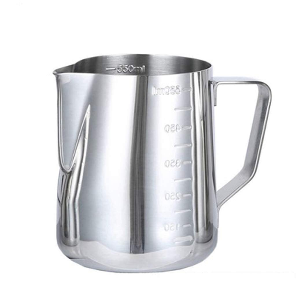 ZSQHD Coffee Maker - Stainless Steel Food-Grade Pull Cup, Fancy Coffee Scented Flower Cylinder, Thick Stainless Steel Needle-Nosed Milking Cup (Size : S)