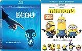 Minions (Blu-ray + DVD + DIGITAL HD) + Earth to Echo Blu Ray DVD Family Fun Movies DVD Kids animated