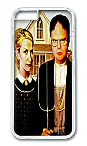 Apple Iphone 6 Case,WENJORS Awesome Dwight Schrute Angela Martin The Office American Gothic Hard Case Protective Shell Cell Phone Cover For Apple Iphone 6 (4.7 Inch) - PC Transparent by icecream design