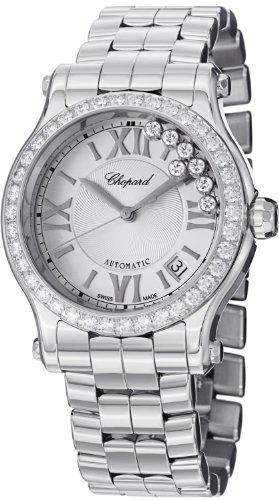 - Chopard Happy Sport Round Ladies Stainless Steel Automatic Diamond Bezel Watch 278559-3004