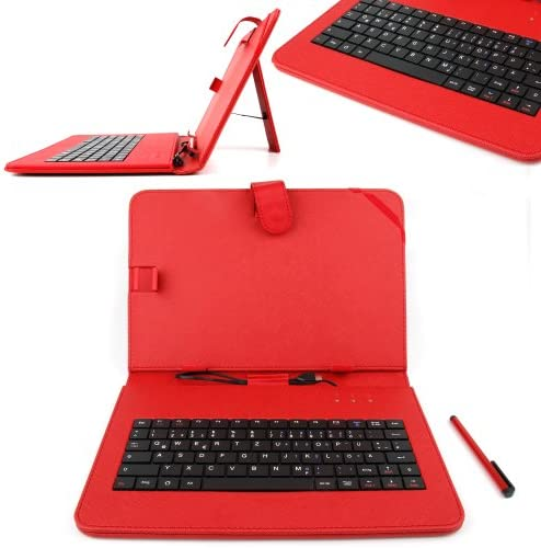 DURAGADGET Fauxレザー保護ケース、マイクロUSBドイツ語キーボードfor Acer Iconia a3-a10 / w510 / w511 / a3-a10-l849 / a3-a10-l662 / w510 – 1458