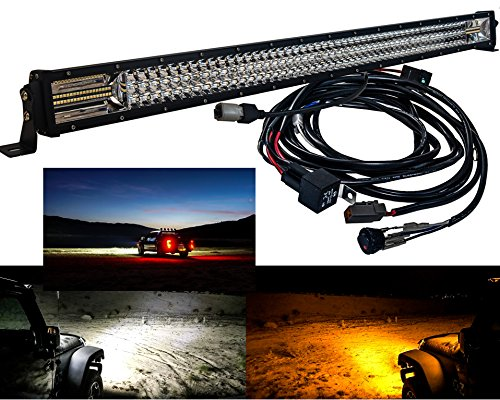 (DL Series Amber White Dual Color Changing LED light bar (40 inch, black))