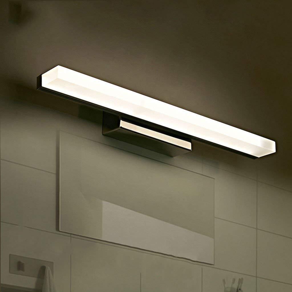 QAZ Badewanne Spiegelleuchten Spiegel Scheinwerfer, Badezimmer Badezimmer Feuchtigkeit led wasserdicht Wasserdicht Beschlagfrei Edelstahl Kosmetikspiegel Lampen (Farbe  warmes Licht-150 CM)