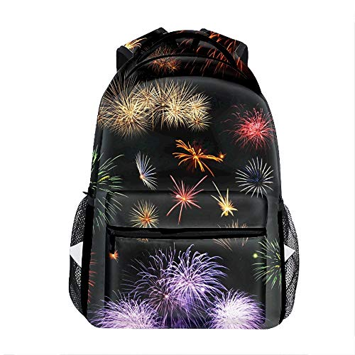 Colorful Fireworks School Travel Backpack for Boys