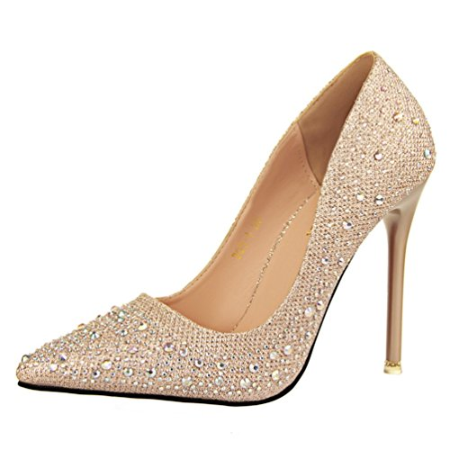 Escarpins HooH Mariage Diamonds Bling gold Femmes Pointu 1vUfCq
