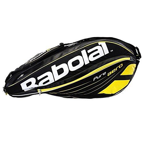 Babolat Racquet Holder (Babolat Pure Aero Racket Holder X6 (Black/Yellow))