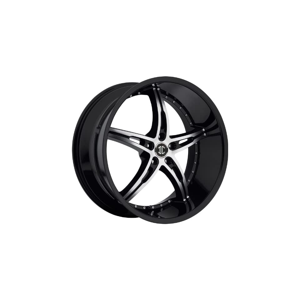 2Crave N14 20 Black Machined Wheel / Rim 5x4.5 with a 25mm Offset and a 74.1 Hub Bore. Partnumber N14 2085LL25JB Automotive