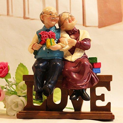 Dreamseden Loving Elderly Couple Figurines Old Age Life