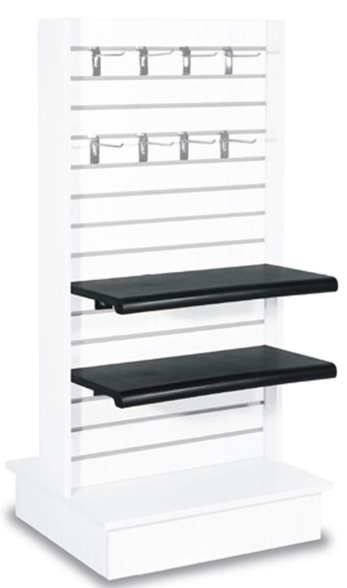 Slatwall Panel Floor Knockdown Merchandise Store Display Fixture White New