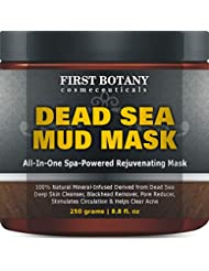 100% Natural Mineral-Infused Dead Sea Mud Mask 8.8 oz for Facial Treatment, Skin Cleanser, Pore Reducer, Anti Aging Mask, Acne Treatment, Blackhead Remover, Cellulite Treatment & Natural Moisturizer
