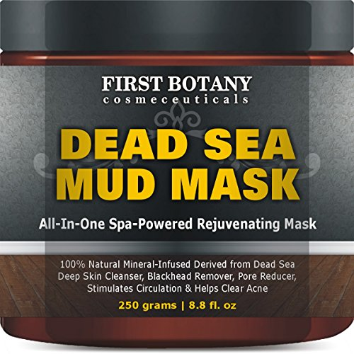 100% Natural Mineral-Infused Dead Sea Mud Mask 8.8 oz for Facial Treatment, Skin Cleanser, Pore Reducer, Anti...