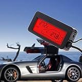 FidgetFidget LCD Display Digital Car Indoor Outdoor Thermometer 12V Vehicle 1.5m Cable Sensor