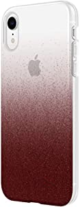 """Incipio Design Series Protective Case for iPhone XR (6.1"""") with Stylish Prints and Clear Cover Design - Cranberry Sparkler"""
