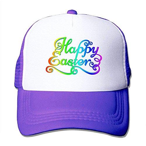 hanbaozhou Gorras béisbol Happy Easter Mesh Male Mini Trucker Baseball Hat