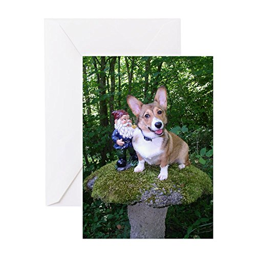 CafePress - The Enchanted Corgi - Greeting Card, Note Card, Birthday Card, Blank Inside - Gardens Pembrooke