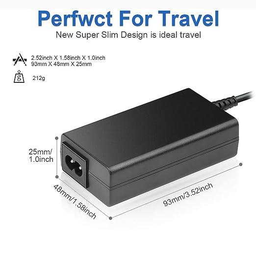 KFD 65W Adaptador Cargador Portátil para HP Pavilion 15-b000es 15-b010es HP Envy 4, Envy 6,14-3100es, Pavilion 14, Chromebook 14 14-b00 14-c00 15 15-b00 ...