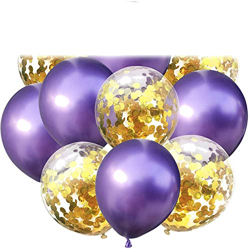 Confetti Balloons Birth Day Party Decoration Kids Adult Balloon Air Ball Wedding Birth Day Ballon Decor Baloon,Purple 1