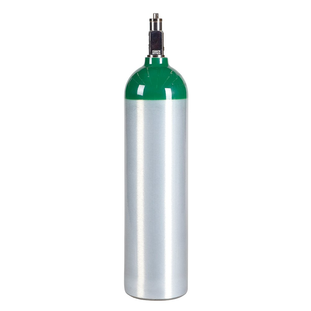 Medical Oxygen Cylinder with CGA870 Post Valve - D Size 14.6 cf (MD)