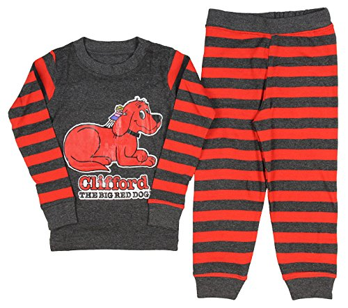 Clifford Toddler Boys The Big Red Dog Bookjama Pajama Set, Red, 4T
