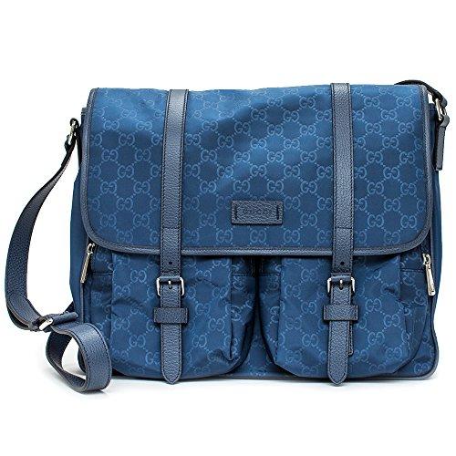 8d556b68b8d Gucci 387070 Gg Pattern Gg Nylon Navy Blue Messenger Bag New - Buy Online  in Oman.