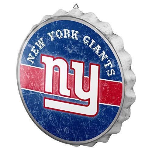 New York Giants Denim - FOCO NFL New York Giants Metal Distressed Bottlecap Wall Signmetal Distressed Bottlecap Wall Sign, Team Color, One Size