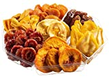 Holiday Dried Fruit Gift Tray, Birthday, Christmas - New Year, Family Parties & Movie Night or as a Corporate Tray. 7 Sections of Assorted Dried Fruits, A Farm Fresh Healthy Gift Basket!