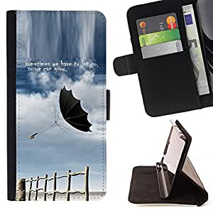 Jordan Colourful Shop - let go grow sometimes storm quote umbrella For Apple Iphone 6 - < Leather Case Absorci????n cubierta de la caja de alto impacto > -