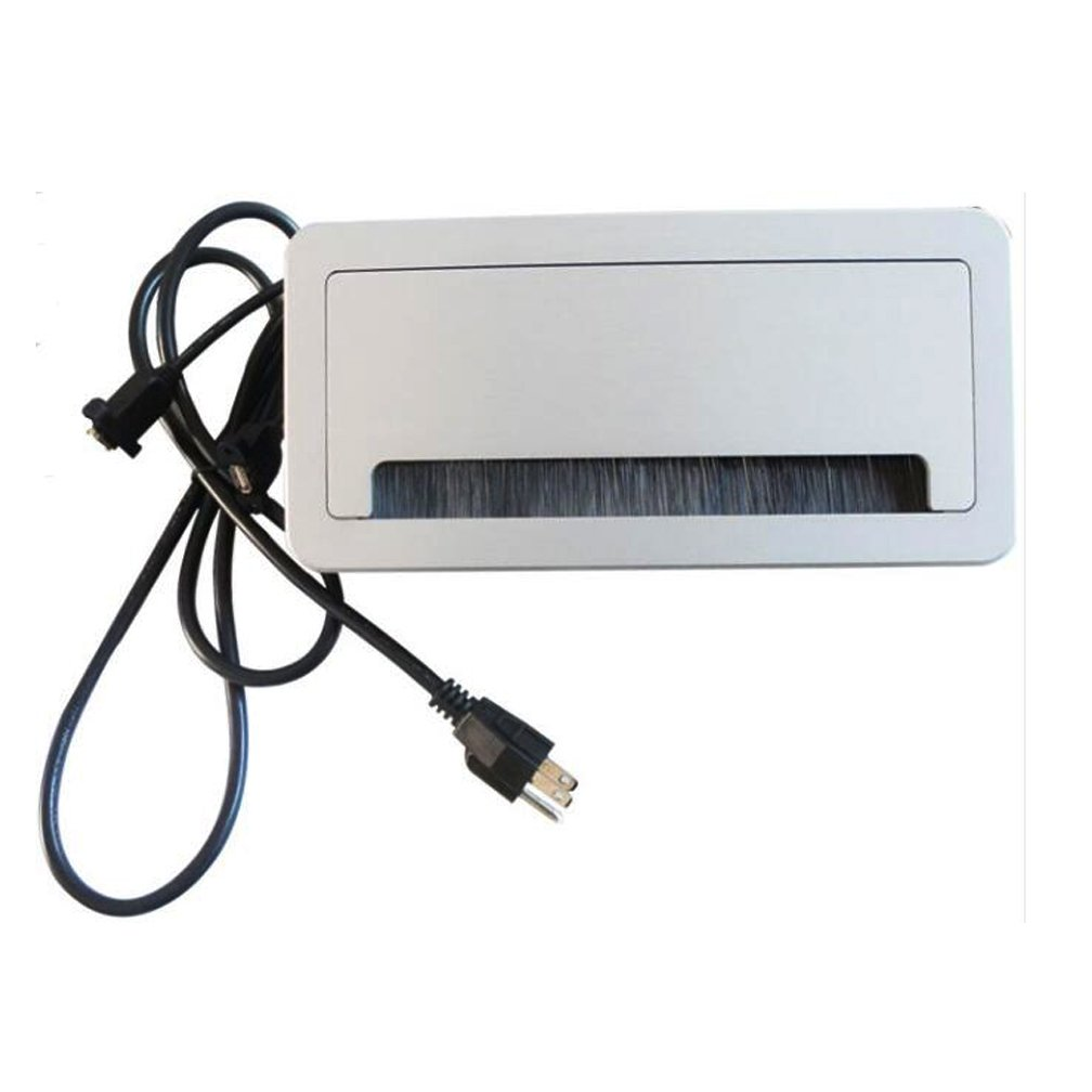 Guang Yi Brush Furniture Cut Out Socket Outlet 2 US Power, 1 TEL, 1 cat5, 1 HDMI, 1 USB, 1 3.5 Audio, 1 VGA with Cable Plug