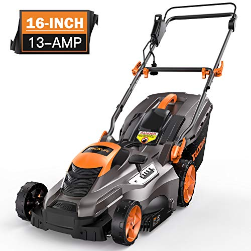 Tacklife Corded Electric Lawn Mower 13 Amp  16 Inch Lawn