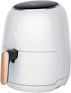 JIANGAA Air Fryer, Airfryer for Home Use 4.2L Healthy Smart Home, Timer and Adjustable Temperature Control for Healthy Oil Free or Low Fat Cooking, 1500 W, White, E024NT