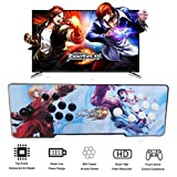 YaJing Pandoras Box 4S Arcade Game Console with 800 Retro Video Games - 2 Players LED Illuminated Ultra Slim Metal Double Joystick Pandora Box Arcade Console - Support HDMI VGA USB Output