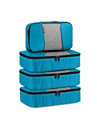 Gonex Packing Cubes Luggage Travel Organizers 3 Medium+1 Small Blue
