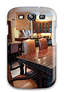Faddish Phone Expansive Eclectic Kitchen And Dining Area With Brown Leather Chairs Case For Galaxy S3 / Perfect Case Cover