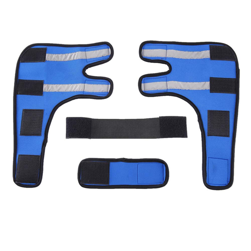 bluee Small bluee Small Reflective Dog Knee Pads Pet Predector Dog Surgery Injured Predective Cover,bluee,S
