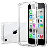 Spigen Ultra Hybrid iPhone 5C Case with 1 Premium Japanese Screen Protector and 2 Graphics / Air Cushioned Technology Clear Case for Apple iPhone 5C 2013 - Crystal Clear