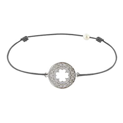 Les Poulettes Jewels Sterling Silver Lucky Clover Bracelet WyTLRc