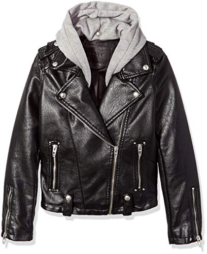 [BLANKNYC] Big Girl's Faux Leather Jackets Outerwear, neo, L -