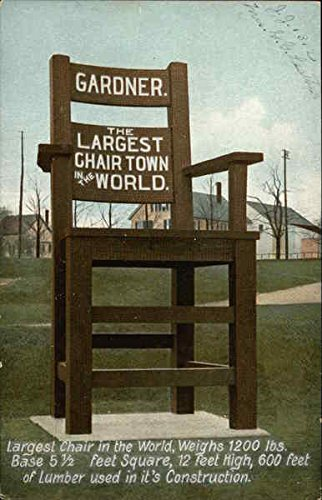 Largest Chair in the World, Weighs 1200 lbs, Base 5 1/2 Feet Square, 12 Feet High, 600 Feet Original Vintage Postcard