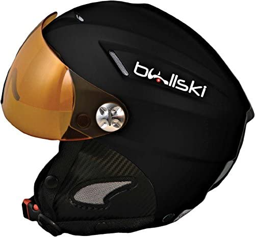 BULLSKI(ブルスキー) スノーヘルメット THUNDER visor(サンダーバイザー) 黒 XS/M=54/57