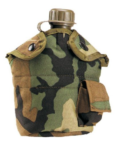 Rothco Enhanced Nylon 1Qt Canteen Cover - Camo by Rothco