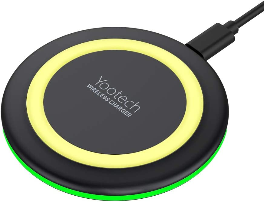 No AC Adapter Wireless Charger Magic Qi 10W Wireless Charging Pad,7.5W Compatible with iPhone 11//11 Pro//11 Pro Max//Xs Max//XR//XS//X//8//8 Plus,10W Fast Charging S10//S10+//S9//S8//Note 10//10+//9//8 BGreen