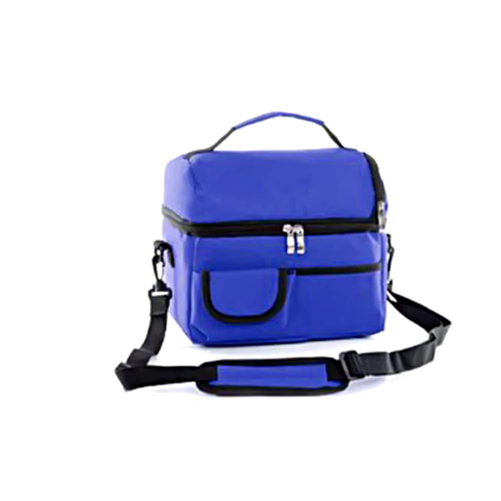 Stonges 8L Fashion Double Thicken Conservaci/ón del calor Bolsa de aislamiento en fr/ío Ice Pack Picnic de viaje azul